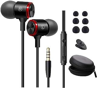 イヤホン 有線 カナル型 マイク付き 通話可能イヤフォン 重低音 音量調整 3.5mmジャック 遮音性 コンパクト 携帯便利 IPhone/Android/PC/IPodなど多機種対応