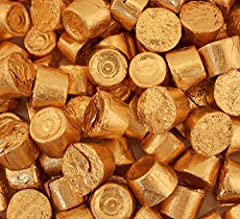 Pretty in copper foils and filled with sweet golden caramel to tantalize your taste buds; Rolo Chocolates go way back and still continue to be one of America's most popular candies; Use these individually wrapped Rolo treats in a copper or gold theme...