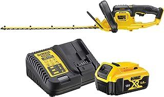 DeWalt borstlös batteridriven häcktrimmer/busksax (18 V, 5,0 Ah, 55 cm svärdlängd, 19 mm skärtjocklek, inkl. batteri och s...
