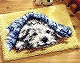 6 Modell Hund Knüpfteppich für Kinder und Erwachsene zum Selber Knüpfen Teppich Latch Hook Kit child Rug Dog046 50 by