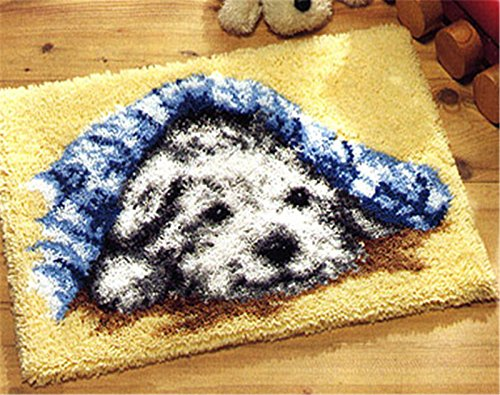 Beyond Your Thoughts DIY Latch Hook Kit rug Making Crafts for Kids/Adults 20 inch X 15 inch Dog046