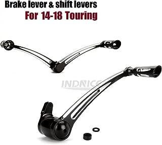 Black CNC cut Brake Arm lever Kit Shift Levers For Harley Touring FLHR FLHX FLHTCU FLHTK FLHTCUTG CVO Limited FLHTKSE 2014-2019