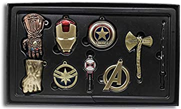 Super Hero Keychain Necklace Pendant Collection Set Jewelry Accessories