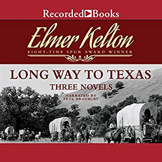 Long Way to Texas     Three Novels              By:                                                                                                                                 Dale L. Walker,                                                                                        Elmer Kelton                               Narrated by:                                                                                                                                 Pete Bradbury                      Length: 17 hrs and 54 mins     38 ratings     Overall 4.5