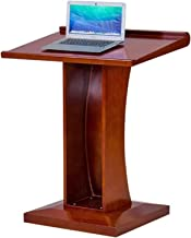 Lecterns Lectern Multimedia Podium Desk Solid Wood Simple Modern Conference Teacher Portable Podium for Church School Pres...