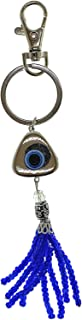 Bravo Team Lucky Triangle Evil Eye Keychain Ring, Handbag Charm for Good Luck and Blessing, with Carabiner Lock, Great Gift
