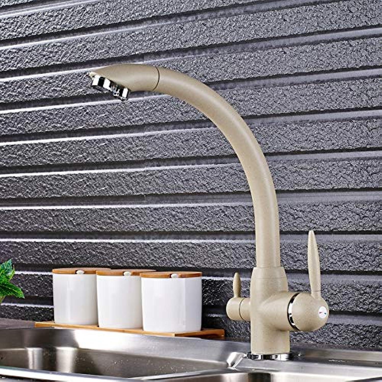 Schwenker-Trinkwasser-Küchenarmaturen 360-Grad-Rotation mit Wasseraufbereitung Features Double Tri Flow 3-Wege-Filter