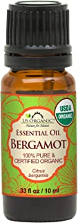US Organic 100% Pure Bergamot Essential Oil - USDA Certified Organic, Cold Pressed - W/Euro droppers (More Size Variations...