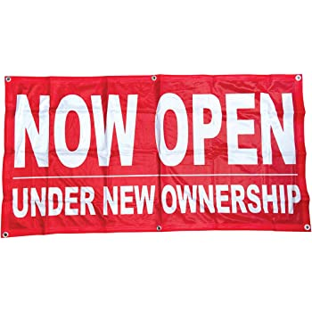 2x4 ft WE ARE OPEN Vinyl Banner Sign rb