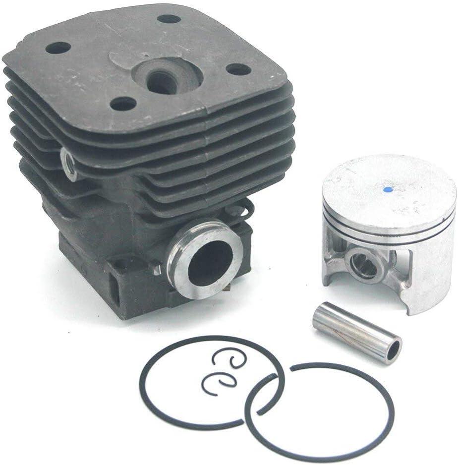 LIBEI Kit de pistón de cilindro para Husvarna 395 395XP 395 EPA 395XP EPA Jonsered 2094 2095 Nikasil Big Bore 58mm Motosierra PN 503993903 (Color: Negro)