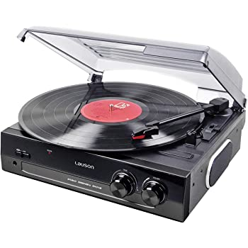 Lauson CL502 Turntable. Recording Function Encoding PC-Link USB Vinyl-to-MP3, Vinyl Record Player 2 Speed 33/45 RPM, Vintage Vinyl Record Player with Stereo Built-in Speakers, Belt-Driven (Black)