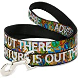 Dog Leash Adventure is Out There Stacked Wilderness Explorer Badges Tan 6 Feet Long 1.0 Inch Wide