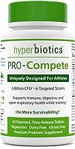 Hyperbiotics PRO-Compete Probiotics: 60 Pieces Vegan Workout Supplement to Maintain Energy and Endurance - Digestion Immun...