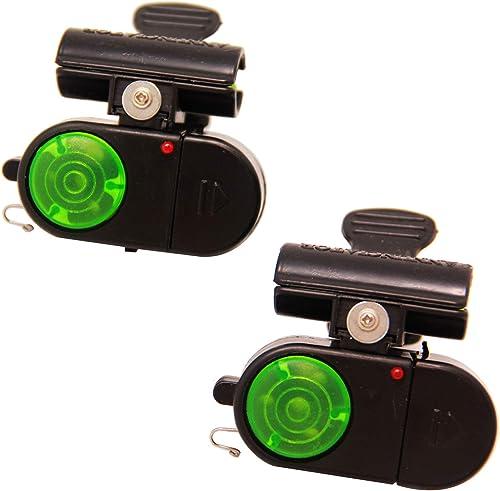 BPS 2 Pcs Alarma Indicador de Pesca de Mordida Inalámbrico Digital Sensible con Indicador OZL-13003 * 2