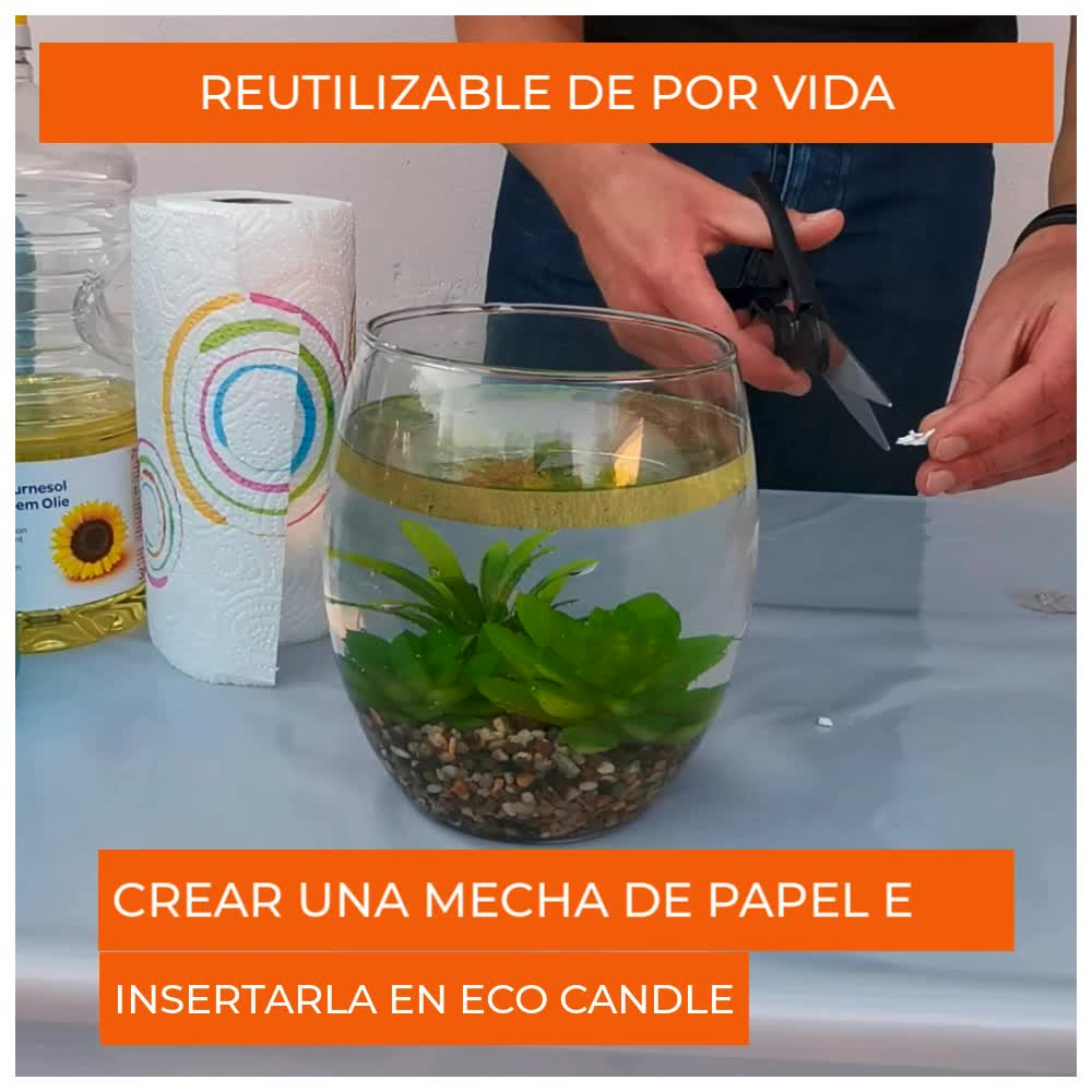 Eco Candle Flotante Vela Eterna 100% Invisible - Reutilizable de por vida - Ilumina su decoración - Combustión de larga duración - Utilizable como ...