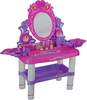 Multicolored Dressing Table for Girls with the Accessories