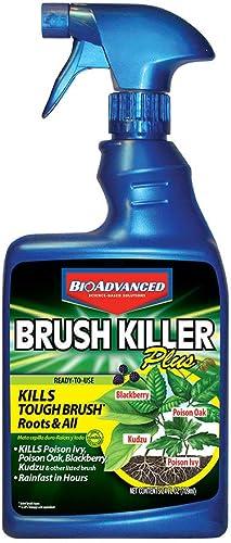BioAdvanced 704630D Brush Killer Plus Kills Tough Vines, Poison Ivy, Sumac, Kudzu, 24 oz, Berry