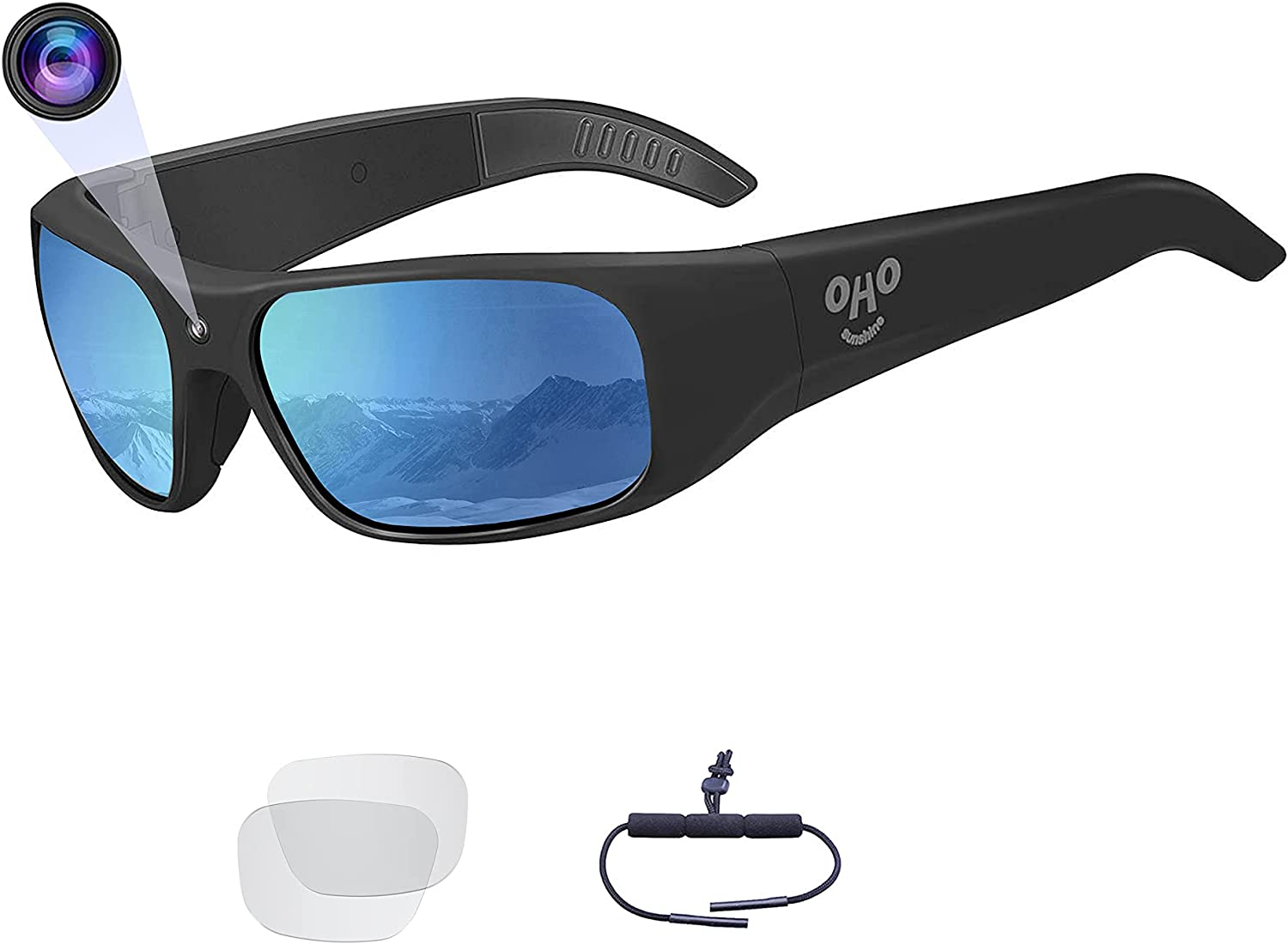 Gifts OhO sunshine Waterproof Video Audio w Built-in Memory Sunglasses 2021 spring and summer new