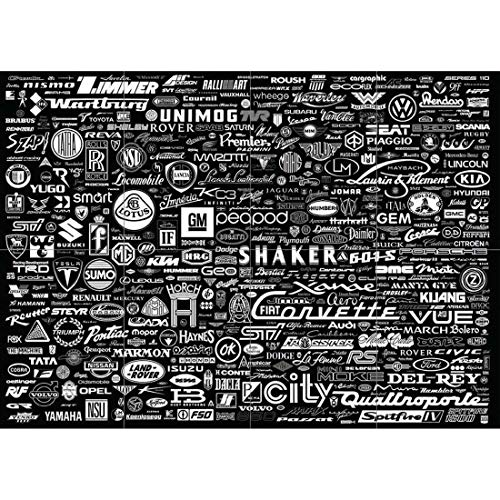 Doppelganger33LTD WORLD CAR LOGO BADGES GARAGE SIGN GIANT ART PRINT NEW POSTER PICTURE B1052