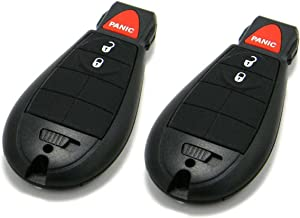 Pair of OEM Electronic Keyless Entry Remote Fobs FOBIK Compatible With Chrysler Dodge Jeep (FCC ID: IYZ-C01C)
