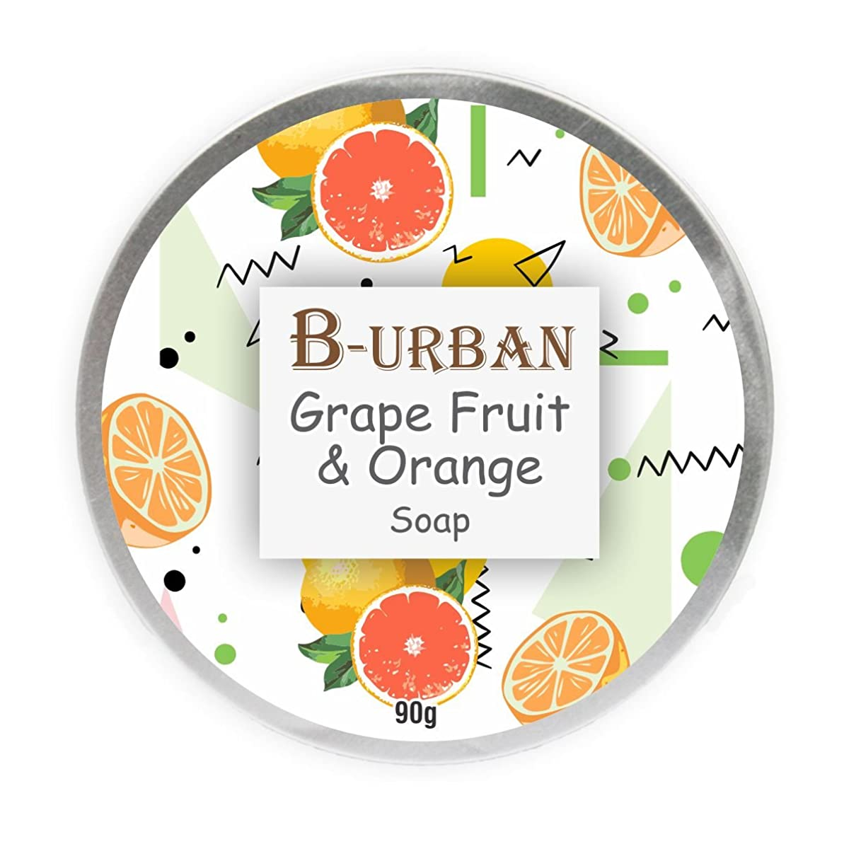 取り除くコモランマ万歳B-Urban Grape Fruit And Orange Soap Made With Natural And Organic Ingredients. Paraben And Sulphate Free. Anti Aging Soap.Comes In A Unique Aluminium Box