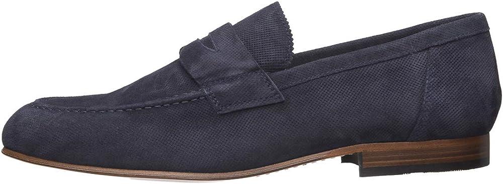 Nero giardini scarpe mocassini da uomo in camoscio E001415U 200