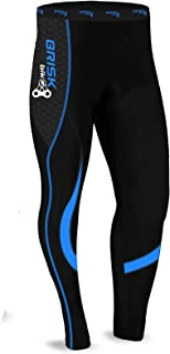 Brisk Bike Mens Cycling Tights Thermal Legging Bicyle Cycle Pant Trouser Coolmax Padded ✓ Italian Fabric ✓Fast Delivery