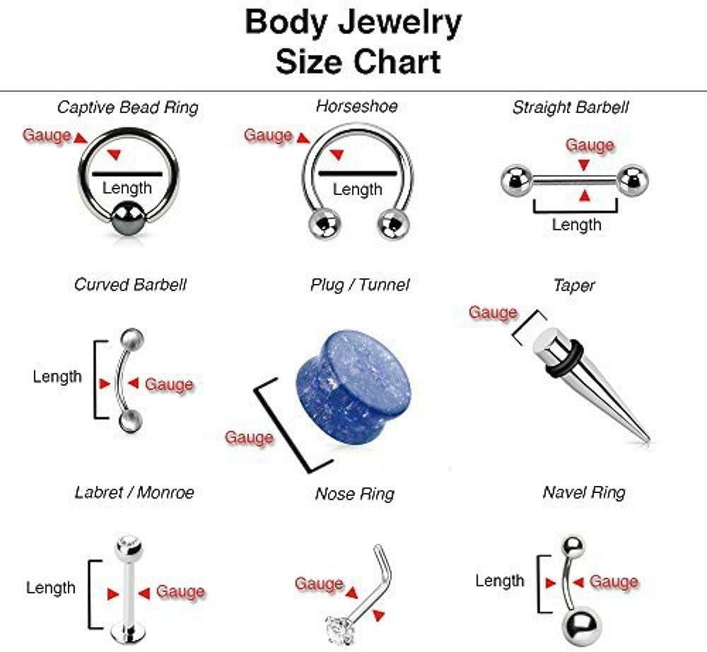 Inspiration Dezigns Top Ball Belly Button Navel Ring Internally Threaded