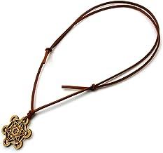 メタトロンキューブ 神聖幾何学模様 木製 ネックレス オリジナル ウッド ペンダント 生命の実 浄化 (ブラウン)