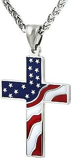 patriotic cross necklace