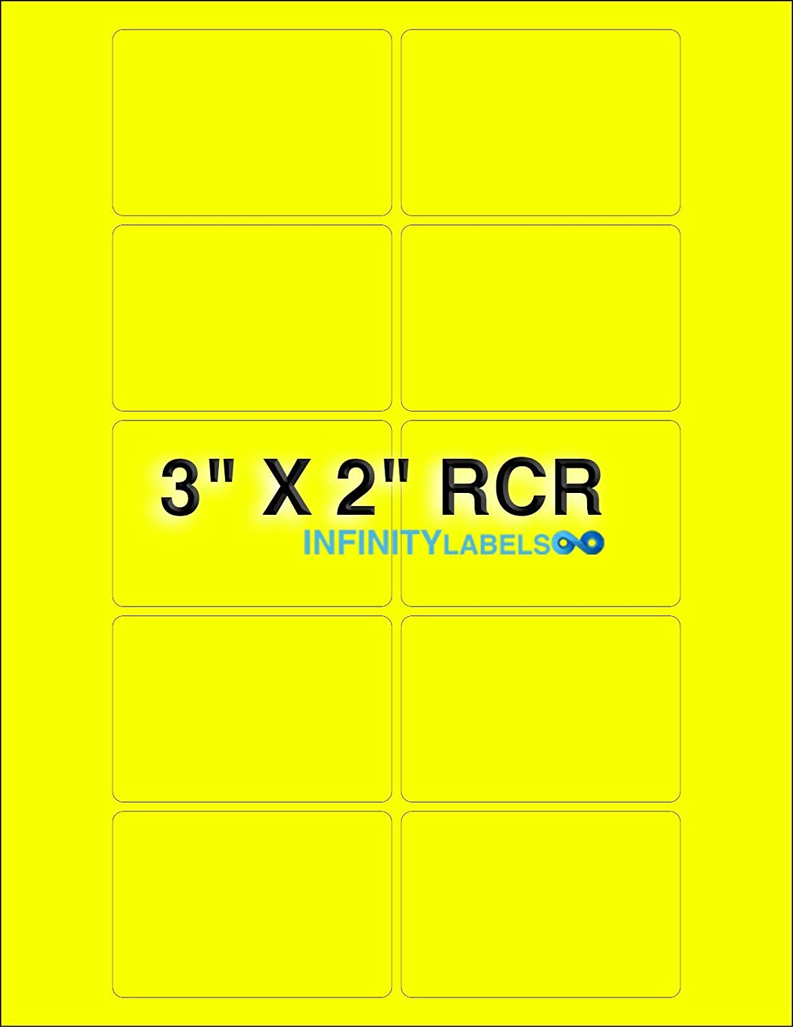 Bulk 200 Sheets Selling Fluorescent Yellow Paper x 3in. 2in. Super popular specialty store Laser Shee