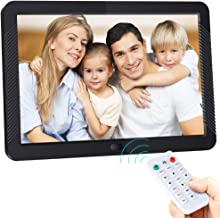 Digital Photo Frame 8 Inch HD 1920x1080 IPS Screen Digital Picture Frame 16:9/4:3 Widescreen 1080P Videos Player with Remote Control, Support Background Music, Photos Auto Rotate,USB and SD Card,Black