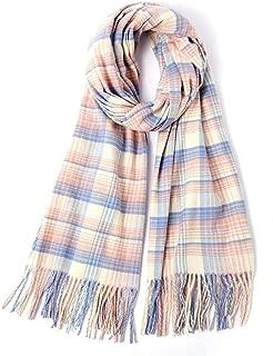 Women Scarves,Winter Shawl Keep Outdoor warmth printedsplice Tassel Wrap Leisure for Women neckerchief Plaid Blanket Big Square Long Tartan Checked
