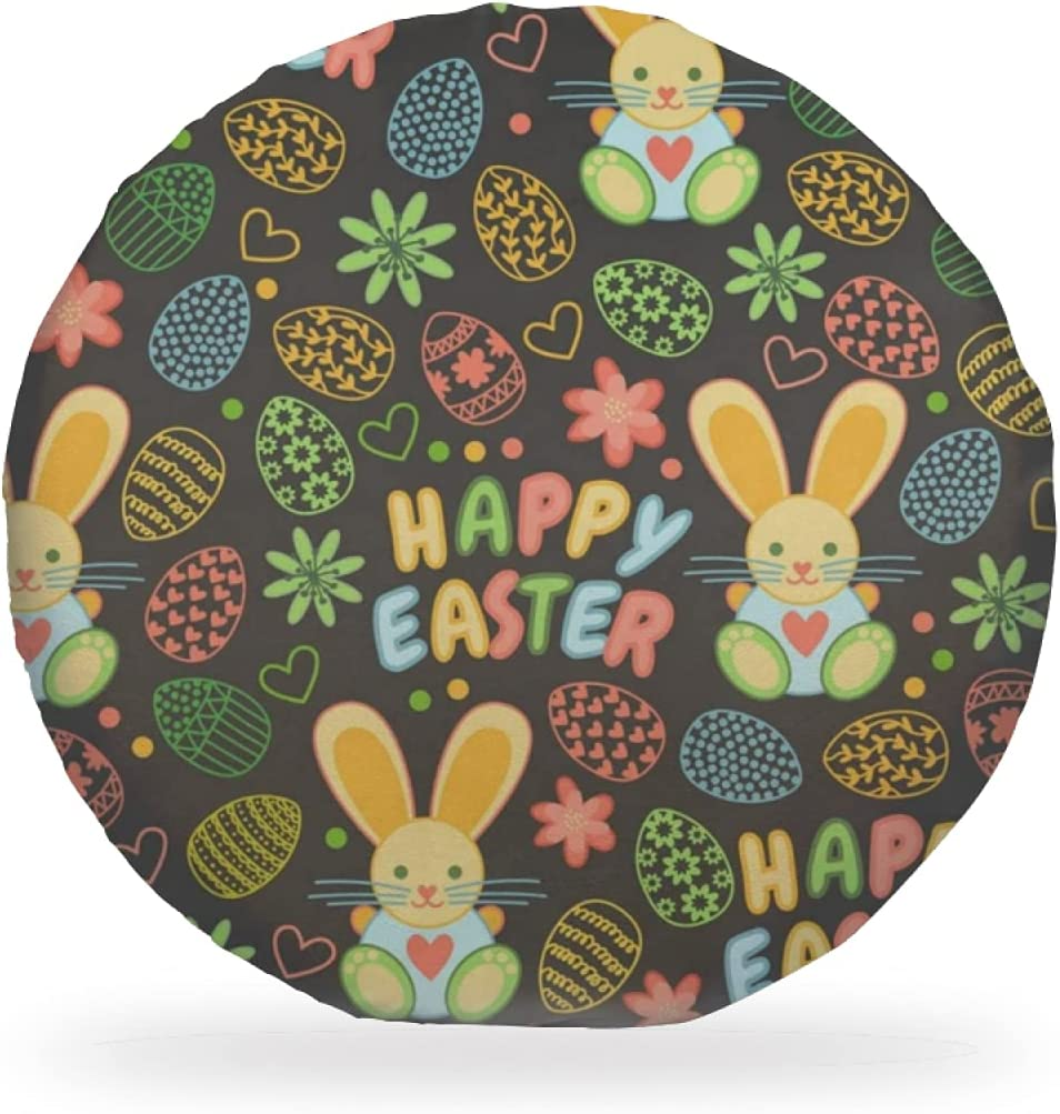Chair Pads Funny Colors famous Eggs Happy Hearts Easter Rabbit Max 66% OFF Flowers