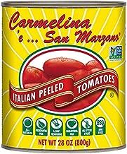 Carmelina San Marzano Italian Whole Peeled Tomatoes in Puree, 28 ounce (Pack of 6)