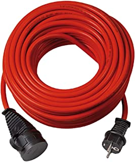 Brennenstuhl BREMAXX® verlengsnoer (5m kabel in rood, voor kortstondig buitengebruik IP44, bruikbaar tot -35 °C, olie- en ...