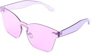 PQZATX Hot Fashion sunglasses women Summer Rimless Square Shades Sun glasses Eyewear Luxury Sunglasses woman Brown