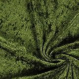 Fabulous Fabrics Pannesamt dunkeloliv – Weicher Samt