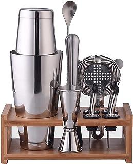 RSBCSHI Cocktail Cocktail Set 700ml Shaker Cocktail Ensemble avec écran d'affichage Set d'acier Inoxydable Tool Set Kit de...