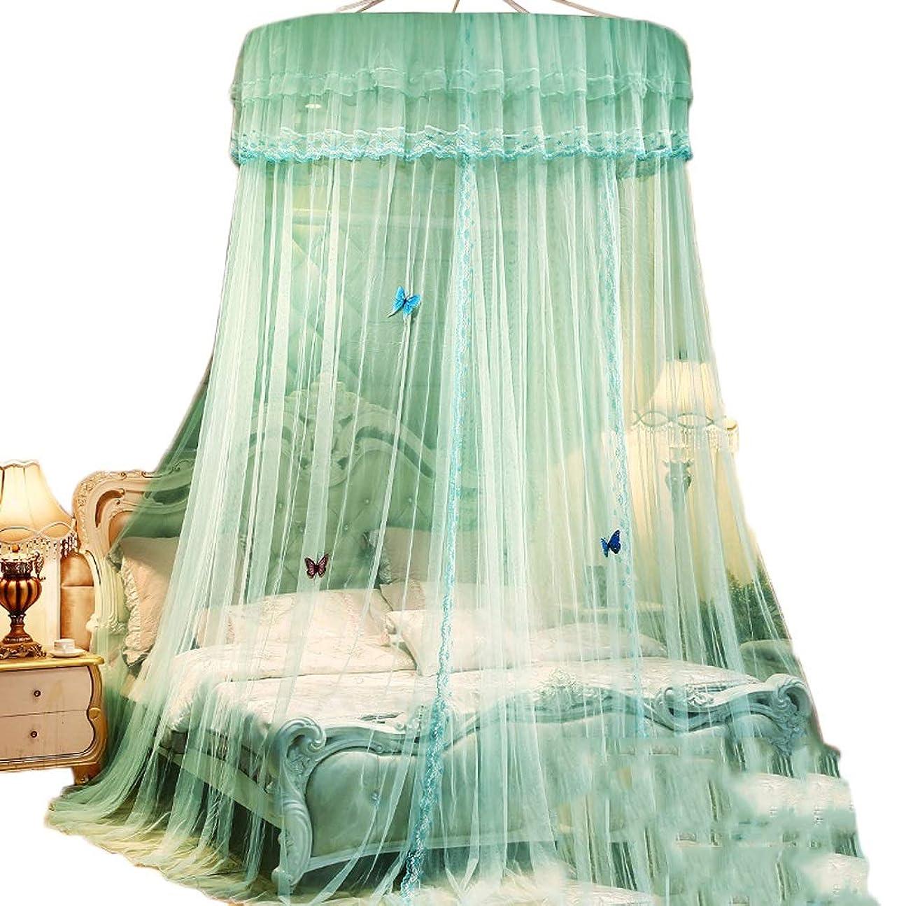 どこでも濃度有利蚊帳 掛かるキットが付いている緑の天井の蚊帳、シングルサイズからキングサイズのベッド、1つの開始のための折りたたみ携帯用特大テントの網 (サイズ さいず : 1.0m(3.3feet) bed)