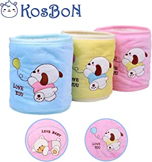 Pack Of 3 Pure Cotton Double Layer Cute Bear Pattern Baby Infant Umbilical Cord Umbilical Navel Hernia Truss Belt.