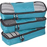 eBags Classic Slim 3pc Packing Cubes (Aquamarine)