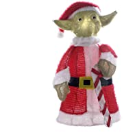Deals on Star Wars Lighted Yoda Christmas Lawn Decoration 28-In.