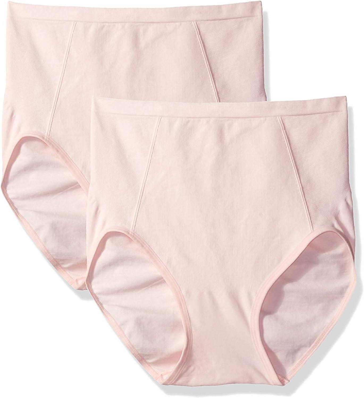 Bali Womens Shapewear Seamless Brief Ultra Control 2-Pack