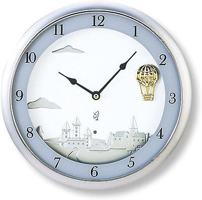 東出漆器 置き時計 ホワイト サイズ:直径30×高さ5cm