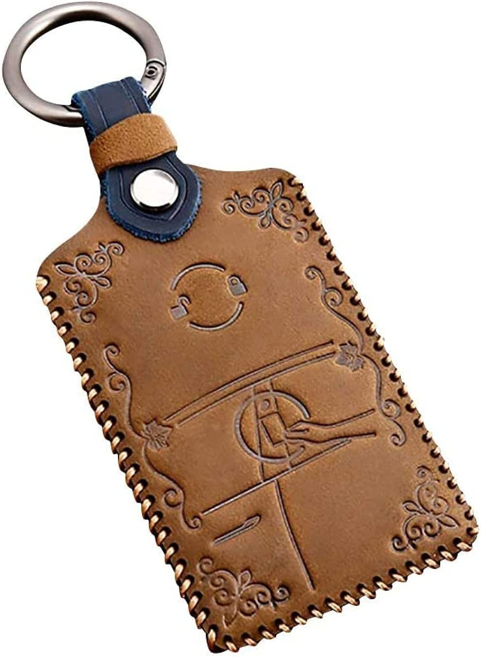 Detroit Mall Key Fob Cover Case Premium Leather Holder Tesla Inventory cleanup selling sale Bag Box fit for