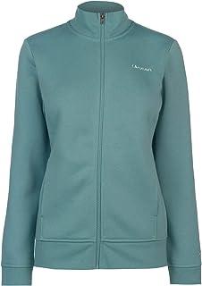LA Gear Womens Full Zip Fleece Sweater Jumper Pullover Long Sleeve Funnel Neck Teal 18 (XXL)