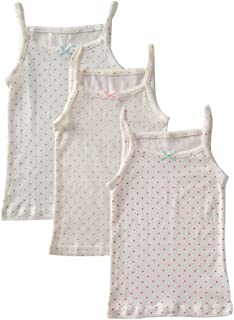 benetia Girls Print Cami Super Soft Undershirts 3-Pack