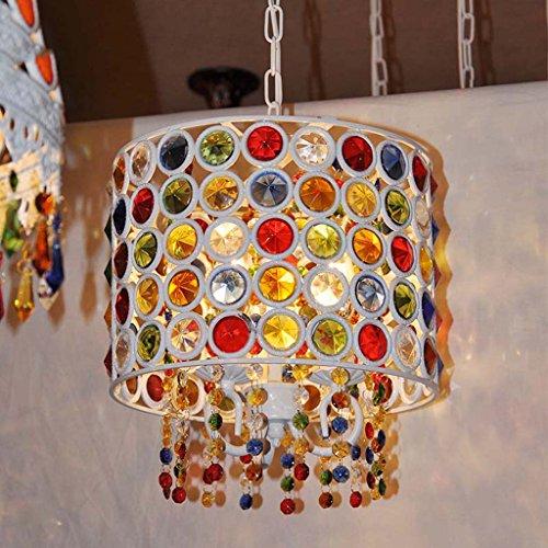 The harvest season- Mediterraneo Bohemia Living Room Light Bedroom Restaurant Lampadario in cristallo color bronzo / E14