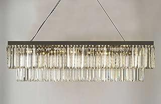 Best pottery barn clarissa glass drop rectangular chandelier Reviews